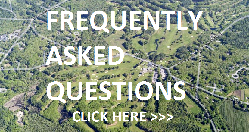 Aerial Photograph of Stow Acres with Frequently Asked Questions written over the image