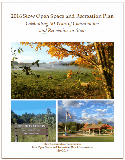 Cover page of 2016 Open Space & Rec Plan