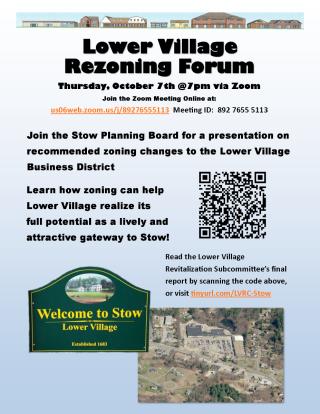 Lower Village Rezoning Forum Flyer