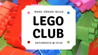 LEGO Club every Saturday from 10:30 am to 11:45 am