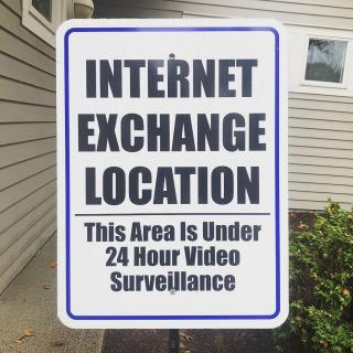 internet exchange location sign
