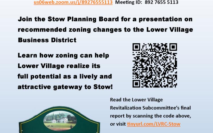 Lower Village Re-Zoning Public Forum